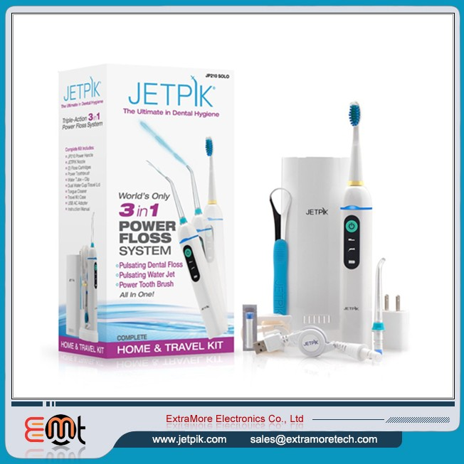 JP210 Solo Wiederaufladbare, patentierte Floss-Technologie. Power Water Flosser & Sonic Tooth Brush