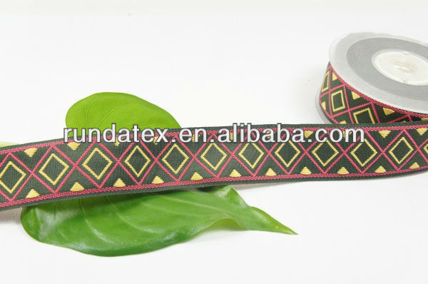 high quality various size of ethnic style jacquard ribbon