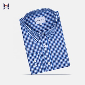 MI TAILORED SMALL QUANTITY OEM SERVICE SMALL GINGHAM MAN SHIRT