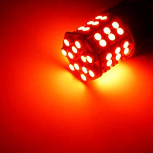 One Pair 3157 Super Bright Red Color 54 SMD LED Light /12V 5W, Turn Signal Light, Corner Light, Stop Light, Parking Light, Side Marker Light, Tail Light, and Backup Lights