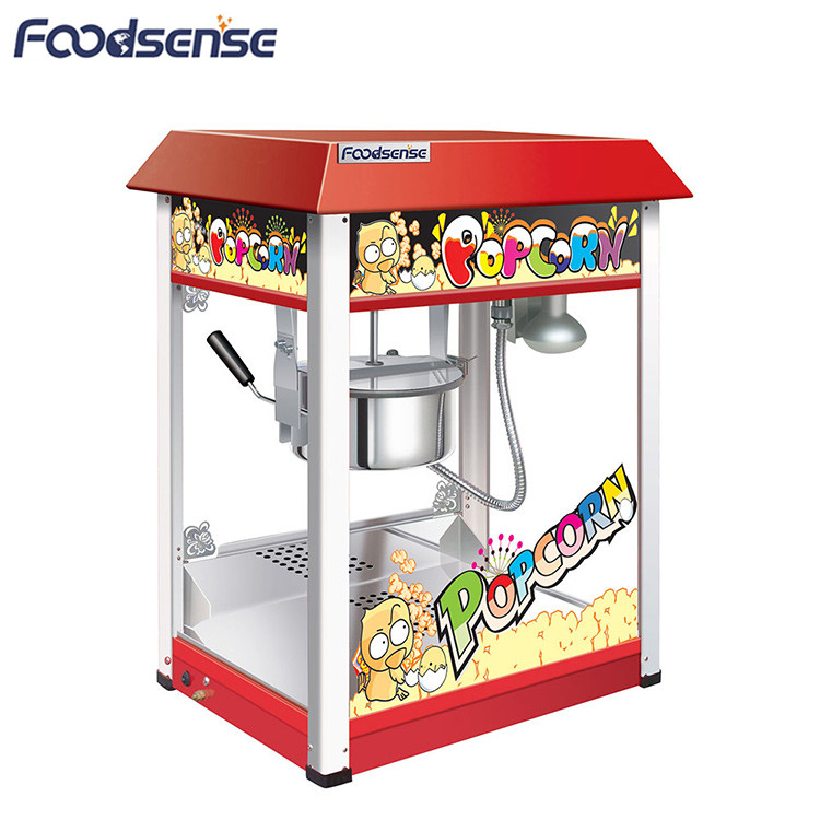 China wholesale price cinema big electric automatic popcorn maker, industrial commercial popcorn machine