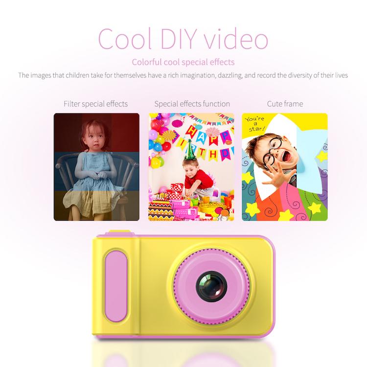 Mini Güzel Çocuklar Dijital Video Kamera GC0308 Çocuklar Için Doğum Günü Festivali Hediye Dijital fotoğraf kamerası