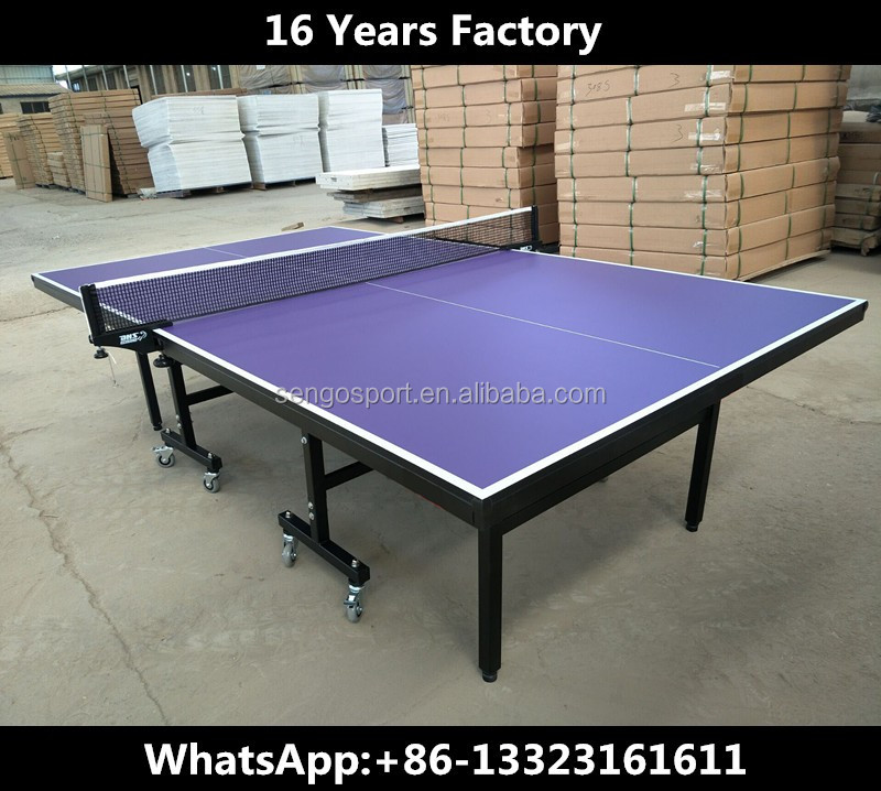 Wholesale Dhs Table Tennis With Folding Table Leg Purple Color Top 18mm Ping  Pong Tables Factory