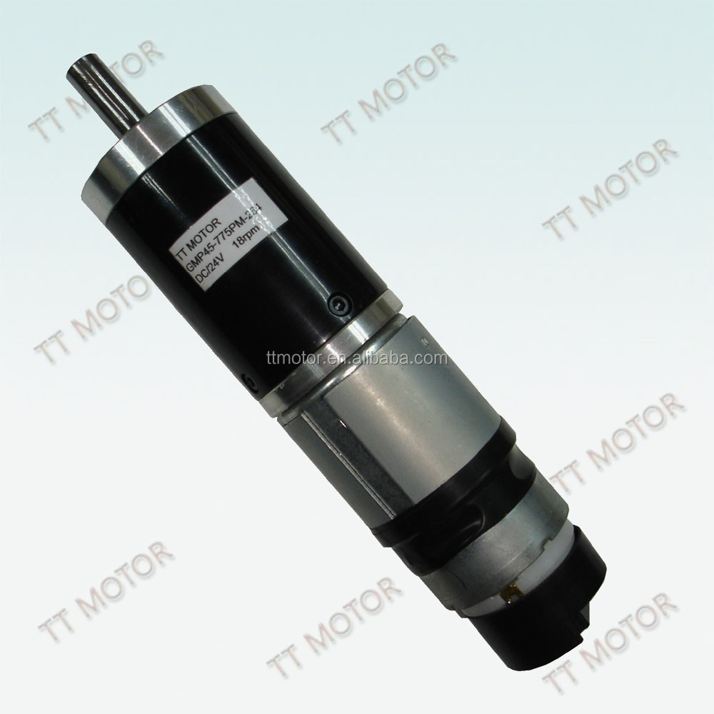 high torque 45mm planetary gear motor for aircraft tow dolly
