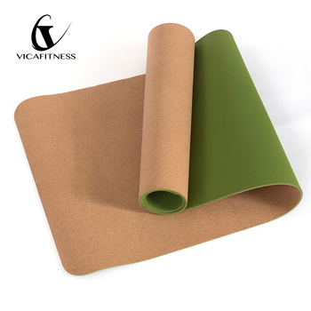 Extra Thick Custom Print TPE Cork Eco Friendly Yoga Mat
