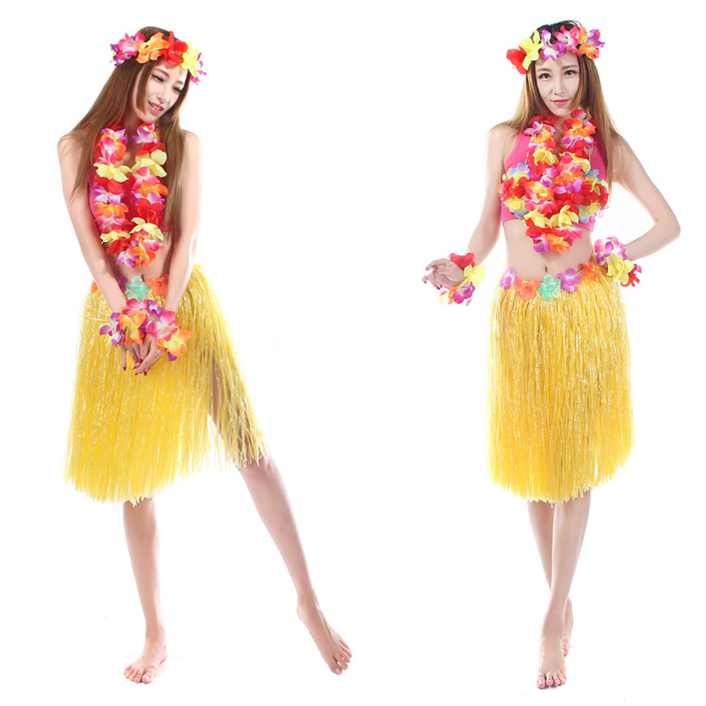 061438015210 aliexpress buy 60cm 5pcs set plastic fibers popular hawaiian costume buy  cheap hawaiian costume