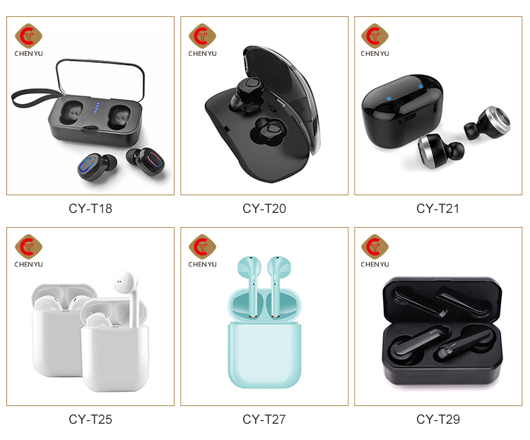 BT V5.0 wireless ultra-thin earbuds mini earphones durable TWS hands free spot earset with charging case