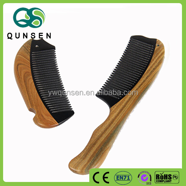 professional hair and beard sandalwood comb set