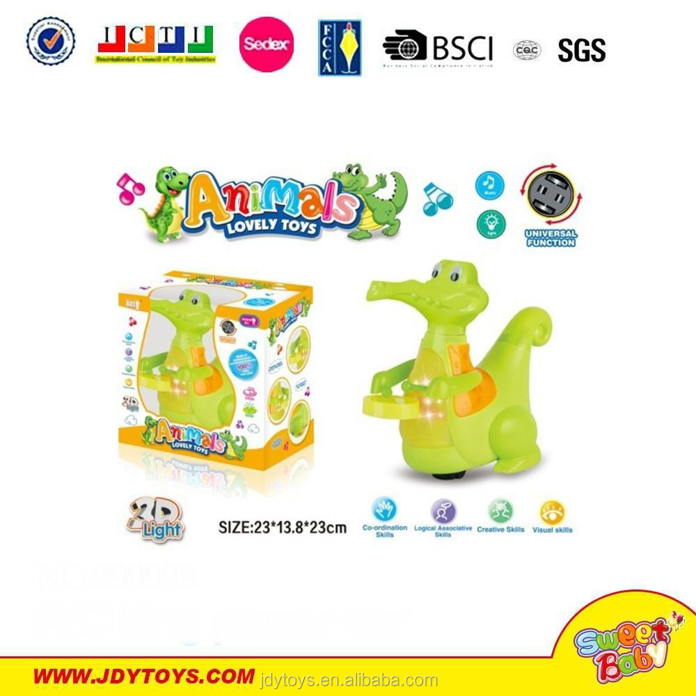 Hot sale cartoon b/o crocodile toy with light & music,lovely electric crocodile toy,b/o animal toy