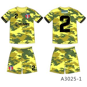 Cheap camouflage soccer jersey customization for youths football jersey for team or club