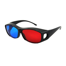 (3 pieces/lot) Best Selling Complementary Inficolor Anaglyph Red Blue 3D Glasses for Normal TVs / Projector and Monitors
