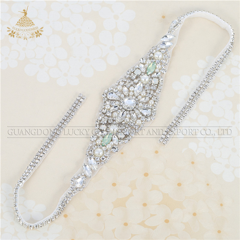 Strass Applique Riemen Bead Bridal Sash Crystal Rhinestone Fancy Riem Voor Meisjes Party Jurken