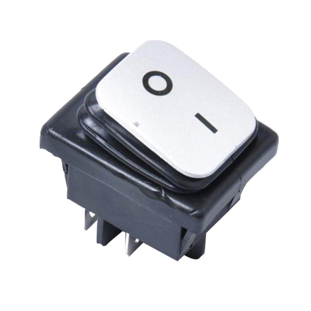 Dovewill 12V 4 Pin Rocker Push Button Switch Circuit Breaker Universal Plastic - Red