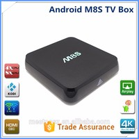 Factory direct sale m8 amlogic s802 quad core android 4.4 smart tv box /m8s ott TV box