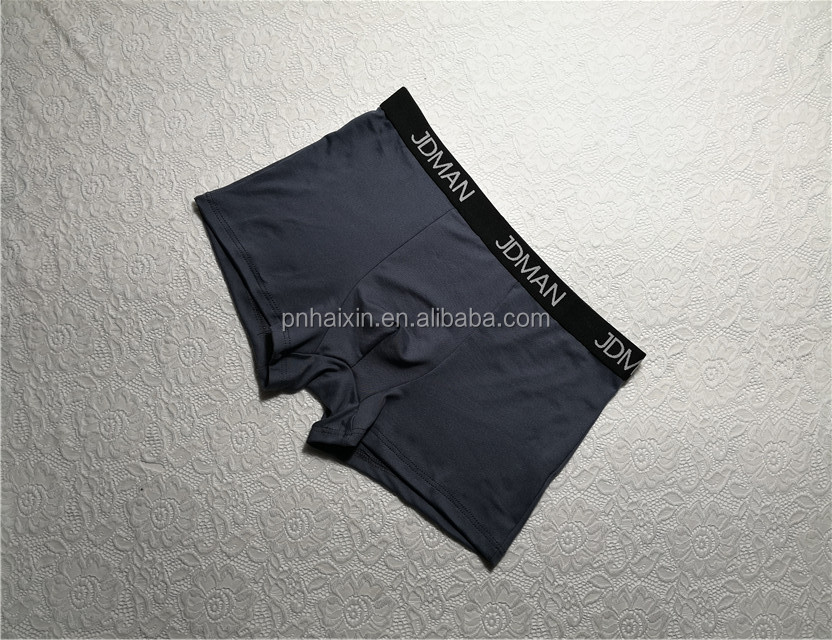 High quality 92% nylon 8% spandex mens underwear boxers with knitted waistband