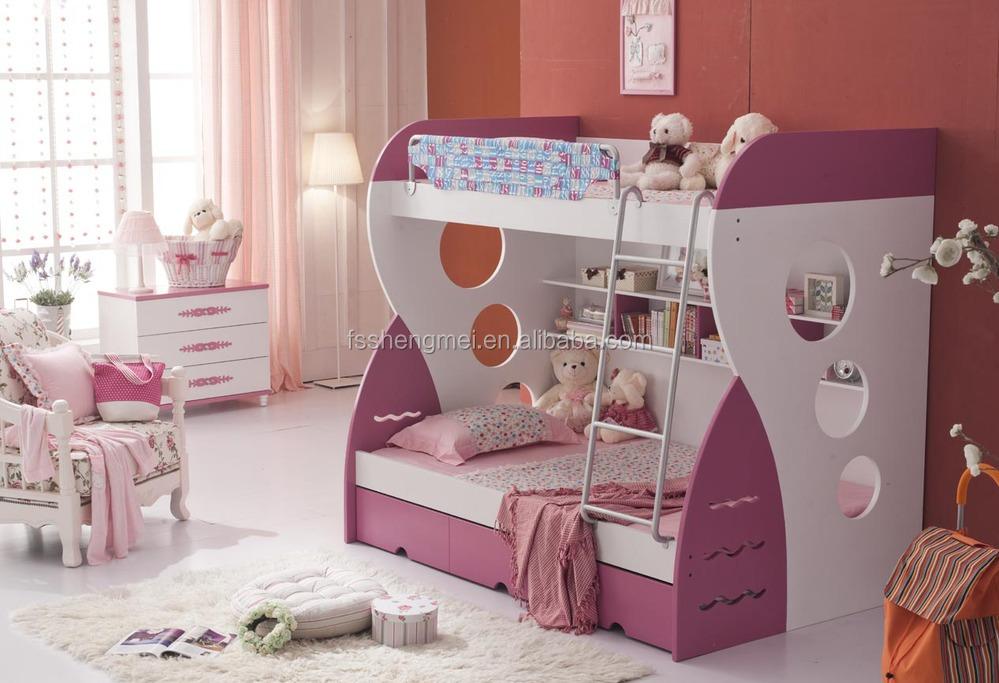 2017 populaire meisjes roze nice stapelbed kinderen slaapkamer