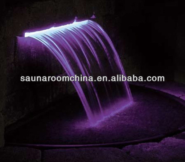 Stainless Steel Color Changing LED Pool Waterfall