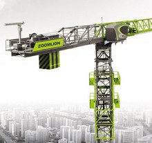 ZOOMLION T6013-8 T6013A-8A construction hoisting flat-top tower crane hot sale in Cambodia