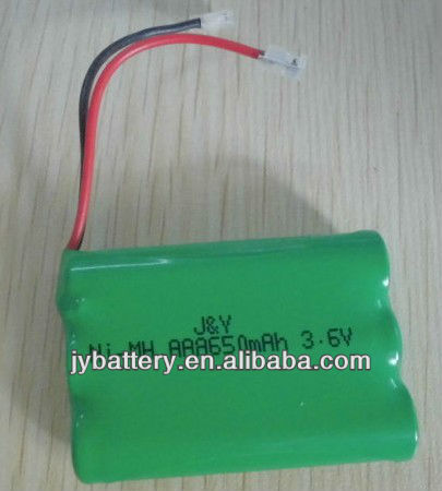cordless phone replacement battery nimh rechargeable aaa 650mAH 3.6v