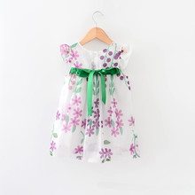 XL23 Newest nova branded children clothes flower frocks lovely printed wholesale summer girls dresses