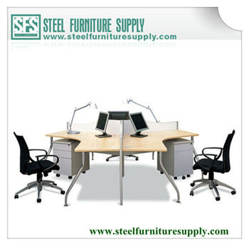 Metal Frame Office Table