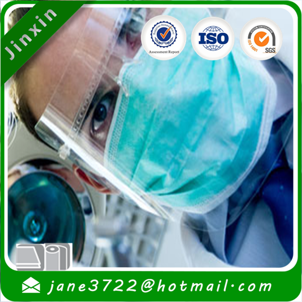 100% Polypropylene Spunbonded Non Woven Fabric Used for medical, like beard protector ,bouffant caps,hair net,mask ,gown