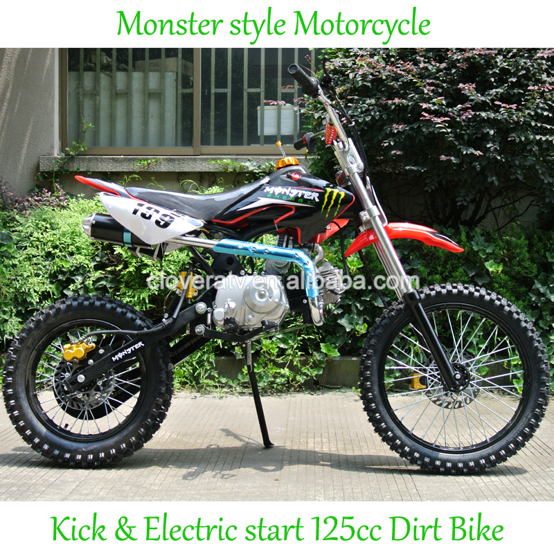 Gas Diesel 110CC Dirt Bike Motorcycle with Alloy Exhuast Pipe