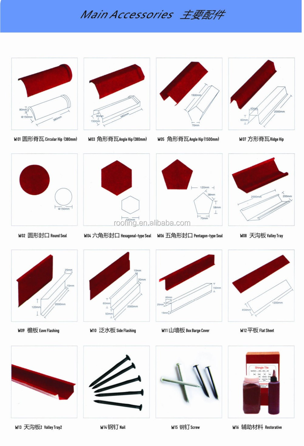High Quality Sheet Metal Roofing Tile In Tiles Color Stone Coated  Terracotta Metal Roof Tiles