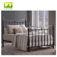 Industrial single metal beds frame with high quality metal