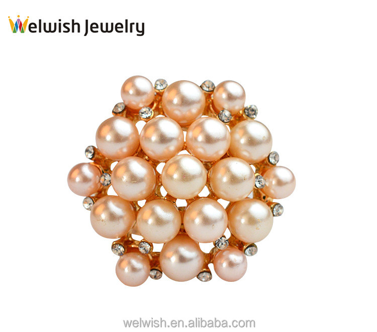 New Wholesale Rhinestone Pearl Scarf Pin Brooch