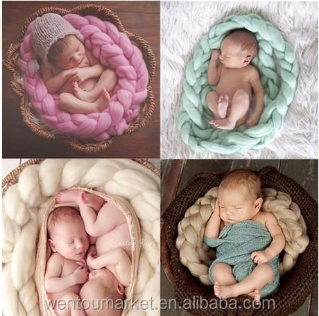 Chunky Knit Australian Merino Wool Baby Blanket