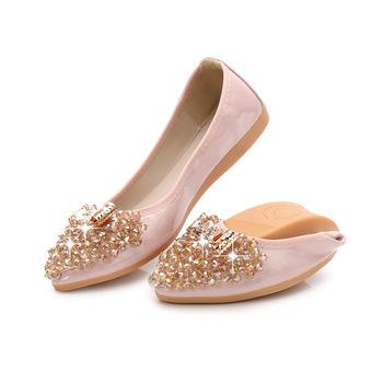 Women Shoes Flat Black Dance Lady Shoes