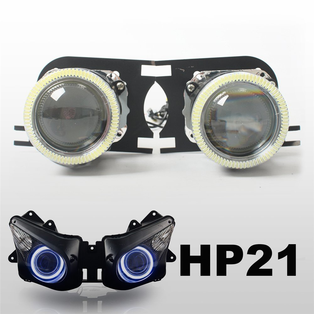 KT Tailor-Made HID Projector Kit HP21 for Kawasaki ZX-10R 2006-2007 White Angel Eye