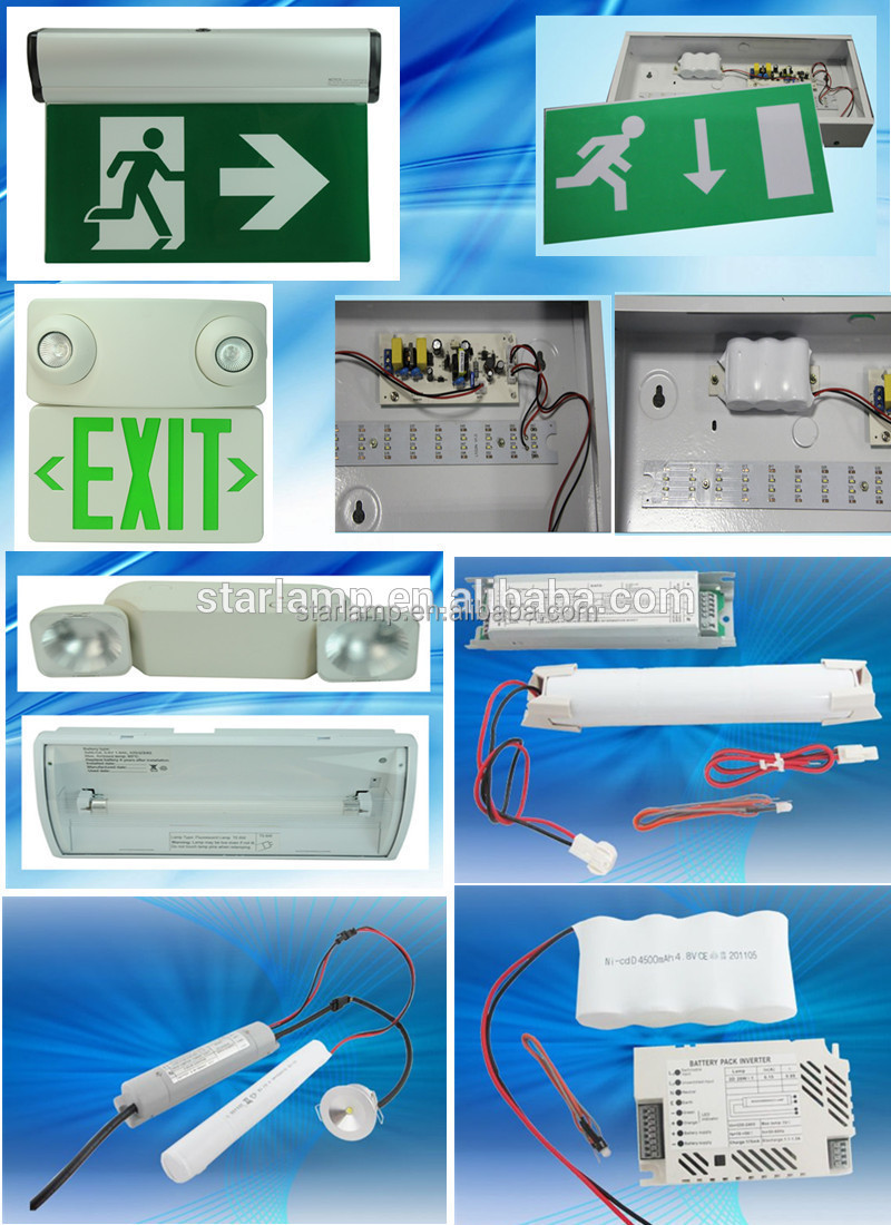 Rechargeable Battery Backup Emergency Light Led Exit Sign Running ...