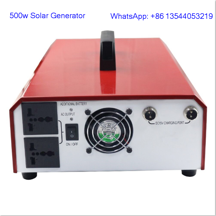 Solar power system portable power 300W power station 110V battery generator
