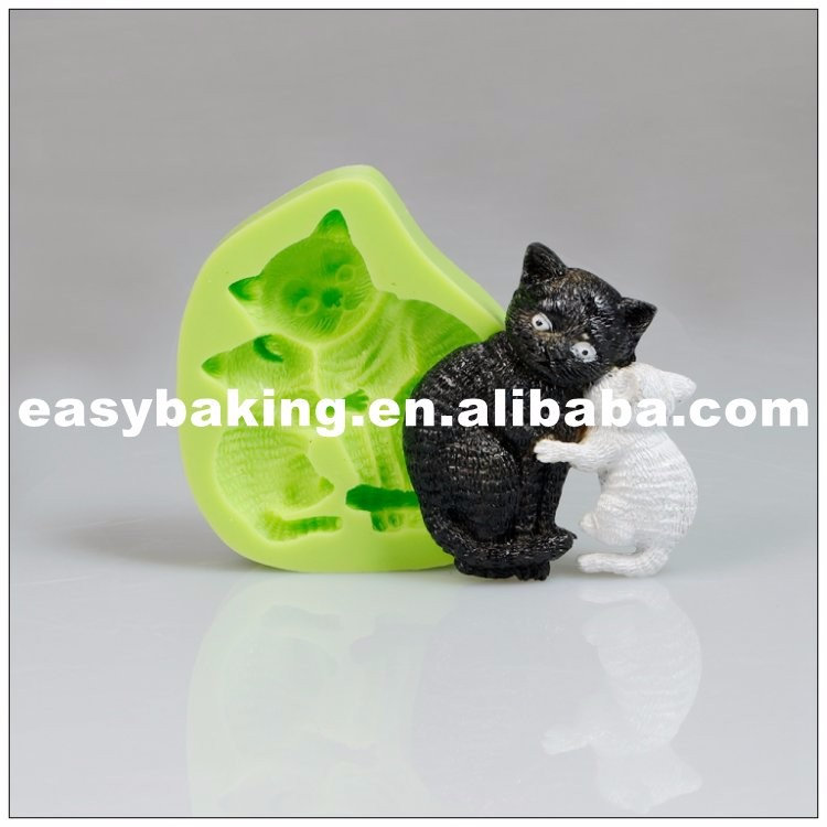 Kissing Cats Fondant Silicone Candy Molds ES-1015