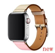 Роскошный кожаный ремешок для Apple Watch 42 мм, серия 4 3 2 1, ремешок для iwatch 44 мм, 38 мм, 40 мм, серия 5(Китай)