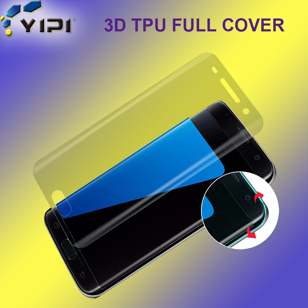 Korea Imported Yellow Screen Protector, 2017 Hot New Products TPU Full Size Cover Screen Protector For S7 Edge/