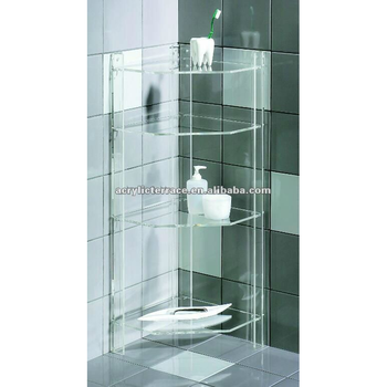 Acrylic Lucite Clear Bathroom Corner Shelf Buy Acrylic