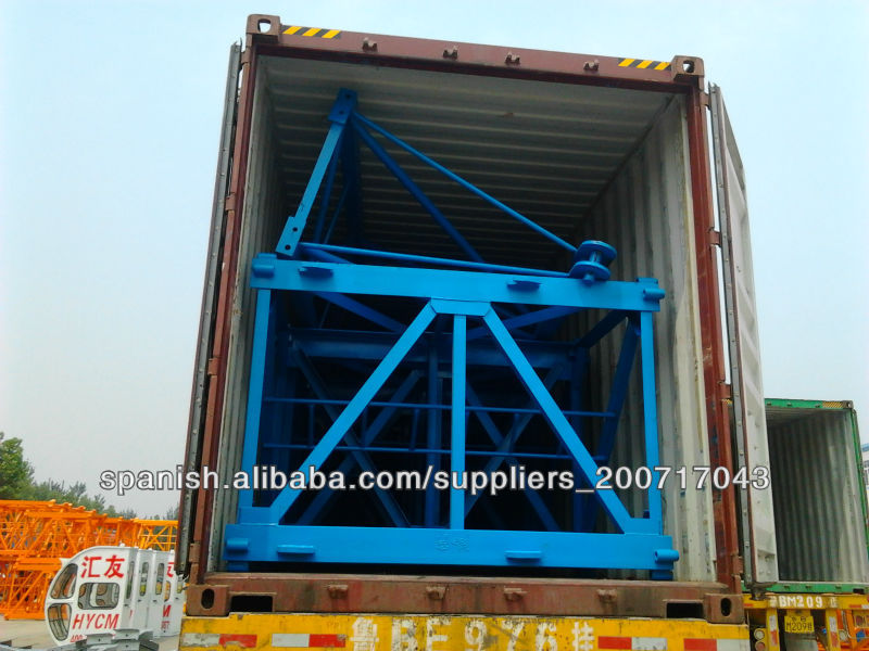QTZ series hot sale tower crane cheap price in Iran and Dubai and luffing crane