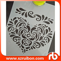 Heart Shape Stencil,Floral Border Stencils, DIY Home Decor,Use on Walls, Floors, Fabrics, Glass, Wood, and More
