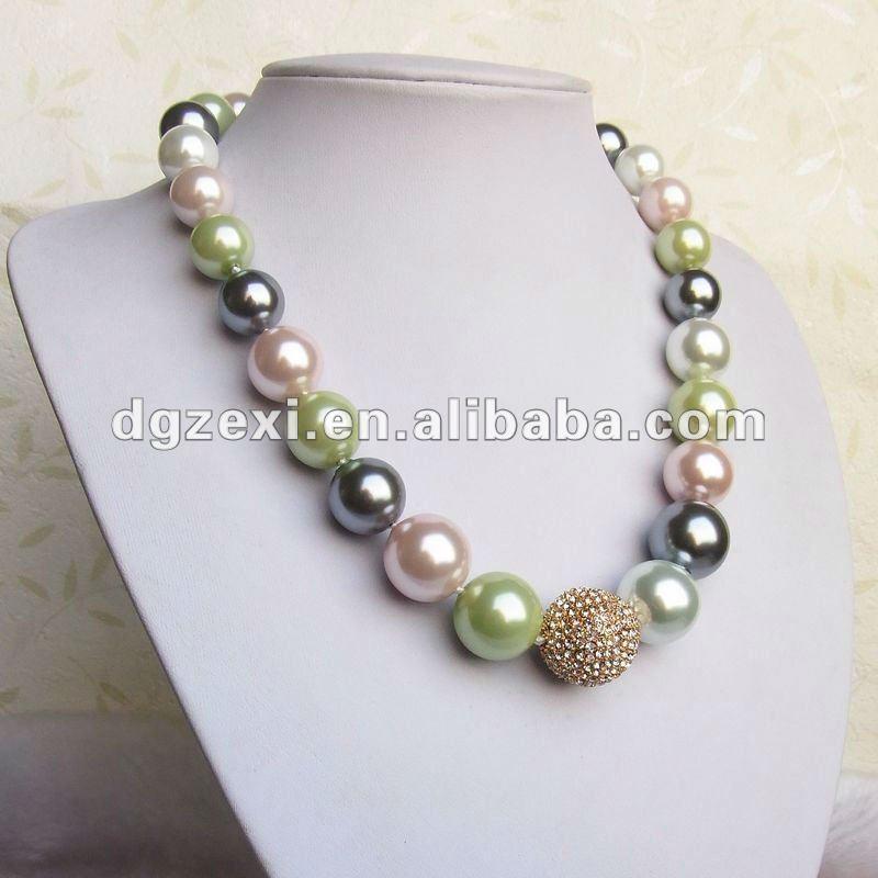 El color multi de lujo collar de perlas de diseño