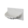 White ceramic hand shape soap dish