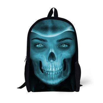 Skeleton Printed Lightweight School College Bags Backpack For Boys ... 64b20178f4