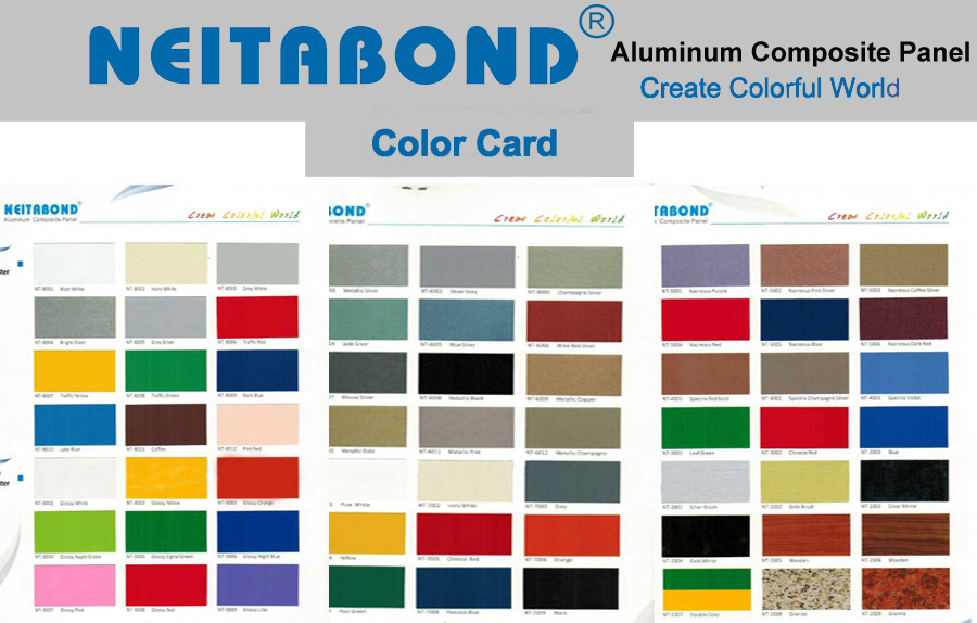 alucobond color chart innovative building materials wall. Black Bedroom Furniture Sets. Home Design Ideas