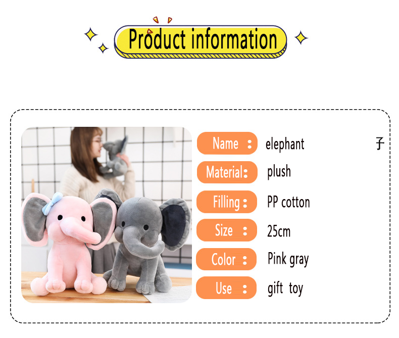 hot sale grey elephant baby comforters sleeping toy plush toy