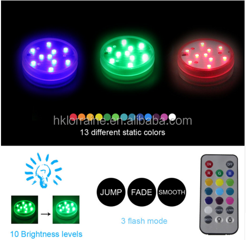 Remote Led Submersible Lights Underwater Led Lights 10leds Battery Operated Ip67 Waterproof Lamp Swimming Pool Light Holiday Use Exquisite Workmanship In