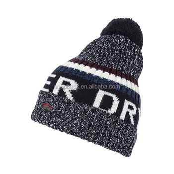 Promotional mens Gift Use knitted hat Wholesale design your own pom pom winter  hat 281e0ad70