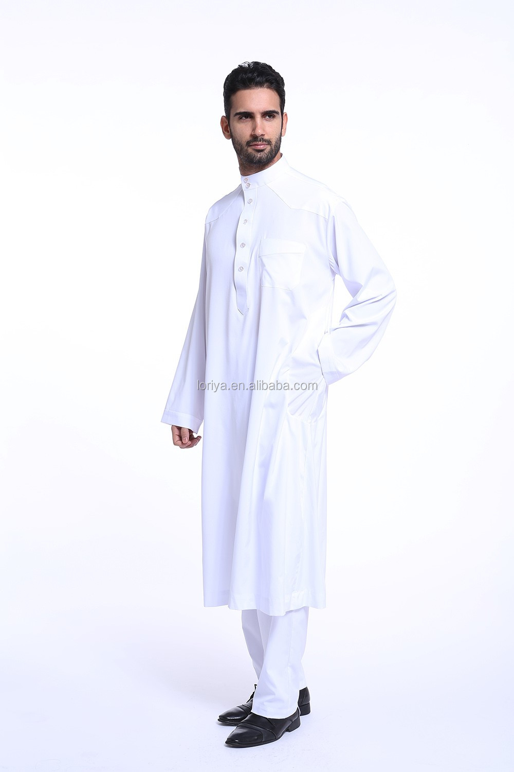 Fashion design abaya wholesale long sleeve new style kaftan latest high quality men abaya in dubai