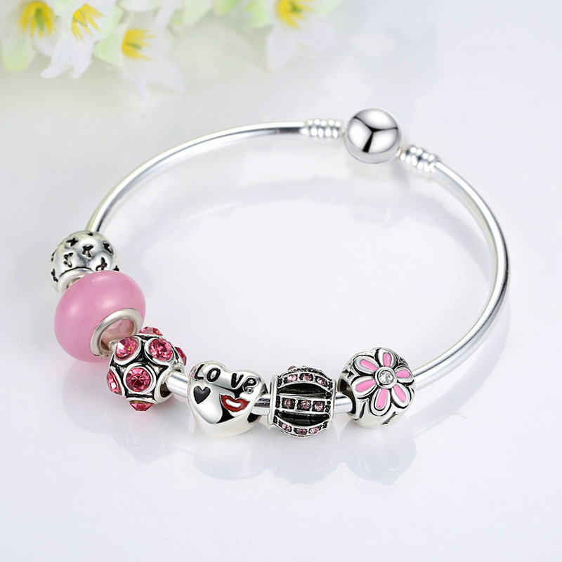 Fashion New Jewelry Wholesale DIY Accessories Charm Bracelets Glass Bead